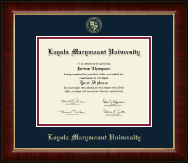 Loyola Marymount University Diploma Frame - Gold Embossed Diploma Frame in Murano