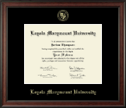 Loyola Marymount University Diploma Frame - Gold Embossed Diploma Frame in Studio