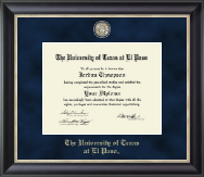 University of Texas at El Paso Diploma Frame - Regal Edition Diploma Frame in Noir