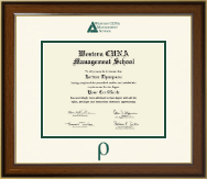 Western CUNA Management School Certificate Frame - Dimensions Certificate Frame in Westwood