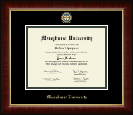 Mercyhurst University  Diploma Frame - Masterpiece Medallion Diploma Frame in Murano