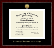 The University of Tennessee Chattanooga Diploma Frame - Gold Engraved Medallion Diploma Frame in Sutton