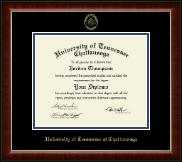 The University of Tennessee Chattanooga Diploma Frame - Gold Embossed Diploma Frame in Murano