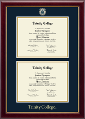Trinity College Diploma Frame - Masterpiece Medallion Double Diploma Frame in Gallery