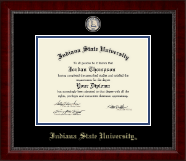 Indiana State University Diploma Frame - Gold Engraved Medallion Diploma Frame in Sutton
