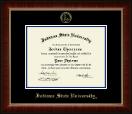 Indiana State University Diploma Frame - Gold Embossed Diploma Frame in Murano
