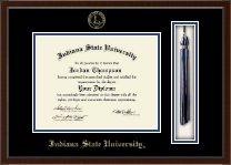 Indiana State University Diploma Frame - Tassel Edition Diploma Frame in Delta
