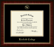 Linfield College Diploma Frame - Gold Embossed Diploma Frame in Murano