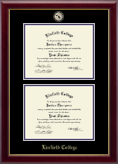 Linfield College Diploma Frame - Double Diploma Frame in Gallery