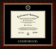 Lindenwood University Diploma Frame - Gold Embossed Diploma Frame in Murano