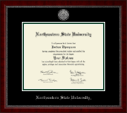Northeastern State University Tahlequah Diploma Frame - Master's Silver Engraved Medallion Diploma Frame in Sutton
