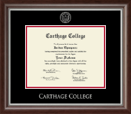 Carthage College Diploma Frame - Gold Embossed Diploma Frame in Devonshire
