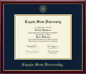 Coppin State University Diploma Frame - Gold Embossed Diploma Frame in Galleria