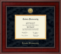 Calvin University Diploma Frame - Presidential Gold Engraved Diploma Frame in Jefferson