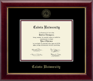 Calvin University Diploma Frame - Gold Embossed Diploma Frame in Gallery