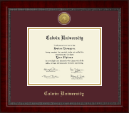 Calvin University Diploma Frame - Gold Engraved Medallion Diploma Frame in Sutton