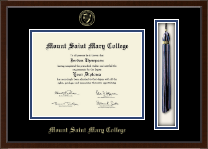 Mount Saint Mary College Diploma Frame - Tassel Edition Diploma Frame in Delta