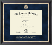 American University Diploma Frame - Regal Edition Diploma Frame in Noir