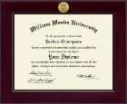 William Woods University Diploma Frame - Century Gold Engraved Diploma Frame in Cordova