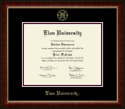 Elon University Diploma Frame - Gold Embossed Diploma Frame in Murano
