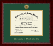 University of South Florida Diploma Frame - Gold Engraved Medallion Diploma Frame in Sutton