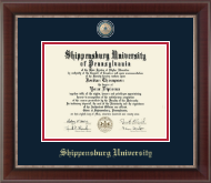 Shippensburg University Diploma Frame - Masterpiece Medallion Diploma Frame in Chateau
