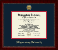 Shippensburg University Diploma Frame - Gold Engraved Medallion Diploma Frame in Sutton