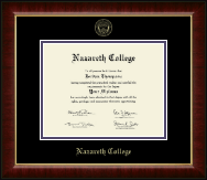 Nazareth College Diploma Frame - Gold Embossed Diploma Frame in Murano