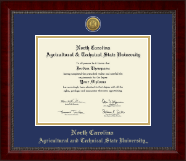 North Carolina A&T State University Diploma Frame - Gold Engraved Medallion Diploma Frame in Sutton