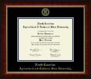 North Carolina A&T State University Diploma Frame - Gold Embossed Diploma Frame in Murano
