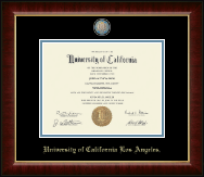 University of California Los Angeles Diploma Frame - Masterpiece Medallion Diploma Frame in Murano