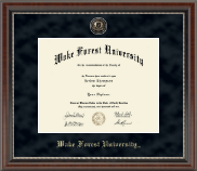 Wake Forest University Diploma Frame - Regal Edition Diploma Frame in Chateau