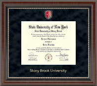 Stony Brook University Diploma Frame - Regal Edition Diploma Frame in Chateau