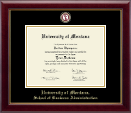 University of Montana Missoula Diploma Frame - Masterpiece Medallion Diploma Frame in Gallery