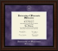 University of Wisconsin Whitewater Diploma Frame - Silver Embossed Diploma Frame in Lenox