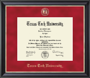 Texas Tech University Diploma Frame - Regal Edition Diploma Frame in Noir