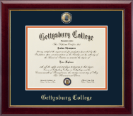 Gettysburg College Diploma Frame - Masterpiece Medallion Diploma Frame in Gallery