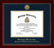 Gonzaga University Diploma Frame - Gold Engraved Medallion Diploma Frame in Sutton