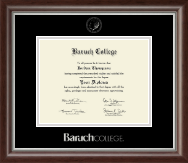 Baruch College Diploma Frame - Silver Embossed Diploma Frame in Devonshire