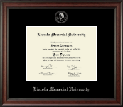 Lincoln Memorial University Diploma Frame - Silver Embossed Diploma Frame in Studio