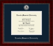 Lincoln Memorial University Diploma Frame - Silver Engraved Medallion Diploma Frame in Sutton