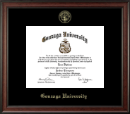 Gonzaga University Diploma Frame - Gold Embossed Diploma Frame in Studio