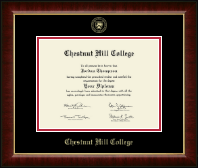 Chestnut Hill College Diploma Frame - Gold Embossed Diploma Frame in Murano