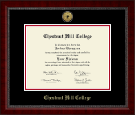 Chestnut Hill College Diploma Frame - Gold Engraved Medallion Diploma Frame in Sutton