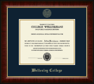 Wellesley College Diploma Frame - Gold Embossed Diploma Frame in Murano