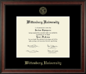 Wittenberg University  Diploma Frame - Gold Embossed Diploma Frame in Studio
