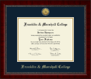 Franklin & Marshall College Diploma Frame - Gold Engraved Medallion Diploma Frame in Sutton