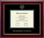 Delbarton High School in New Jersey Diploma Frame - Gold Embossed Diploma Frame in Gallery