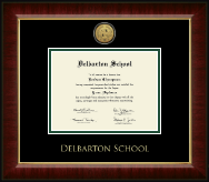 Delbarton High School in New Jersey Diploma Frame - Gold Engraved Medallion Diploma Frame in Murano