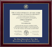 The SUNY Downstate Health Sciences University Diploma Frame - Gold Embossed Diploma Frame in Gallery